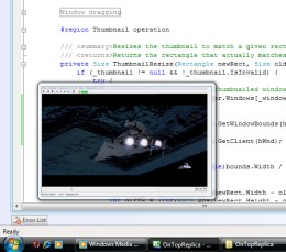 Watching Star Wars while writing code...