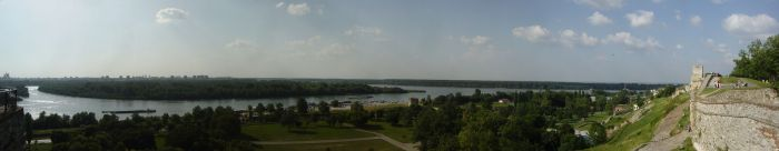 The Danube from the fortress of Belgrade.