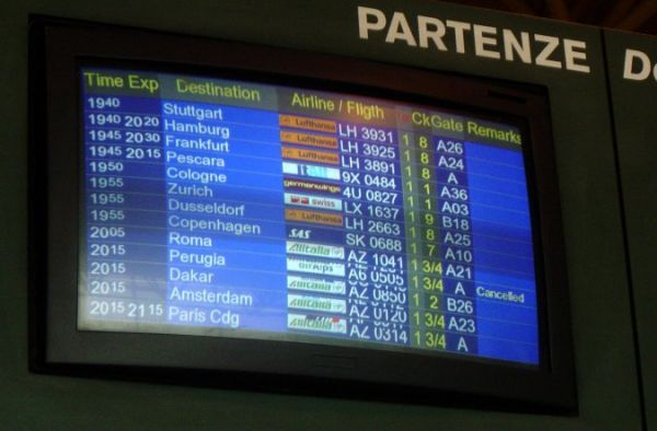 The canceled flight to Perugia